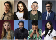 This combination photo shows, top row from left, Henry Golding, Ella Mai, Kane Brown, Hannah Gadsby, and bottom row from left, Elsie Fisher, John David Washington, Natasha Rothwell and Awkwafina, who have been named as 2018's Breakthrough Entertainers of the Year by the Associated Press. (AP Photo)