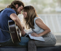 This image released by Warner Bros. Pictures shows Bradley Cooper, left, and Lady Gaga in a scene from