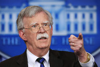 In this Nov. 27, 2018 file photo, U.S. National Security Adviser John Bolton speaks to reporters during the daily press briefing in the Brady press briefing room at the White House in Washington. (AP Photo/Manuel Balce Ceneta)