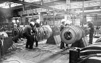 東ドイツ時代のカルトバルツ製鉄所。東西統一後、閉鎖された施設の機材は中国などに売却された(Oranienwerk提供)