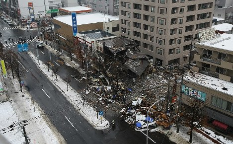 In Photos: Dozens injured after huge explosion in Sapporo