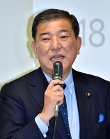 自民党の石破茂元幹事長=渡部直樹撮影