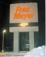 極寒のアラスカ。暖房は欠かせないが……=フェアバンクス市で筆者撮影