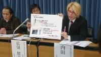 約3万2500人の署名を文科省に提出した後、教職員給与特別措置法の問題点を説明する教育学者たち=文部科学省で2018年12月4日、小国綾子撮影
