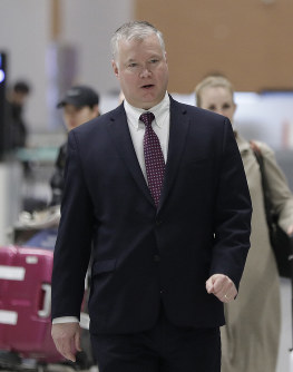 U.S. Special Representative for North Korea Stephen Biegun arrives at Incheon International Airport in Incheon, South Korea, on Dec. 19, 2018. (AP Photo/Lee Jin-man)