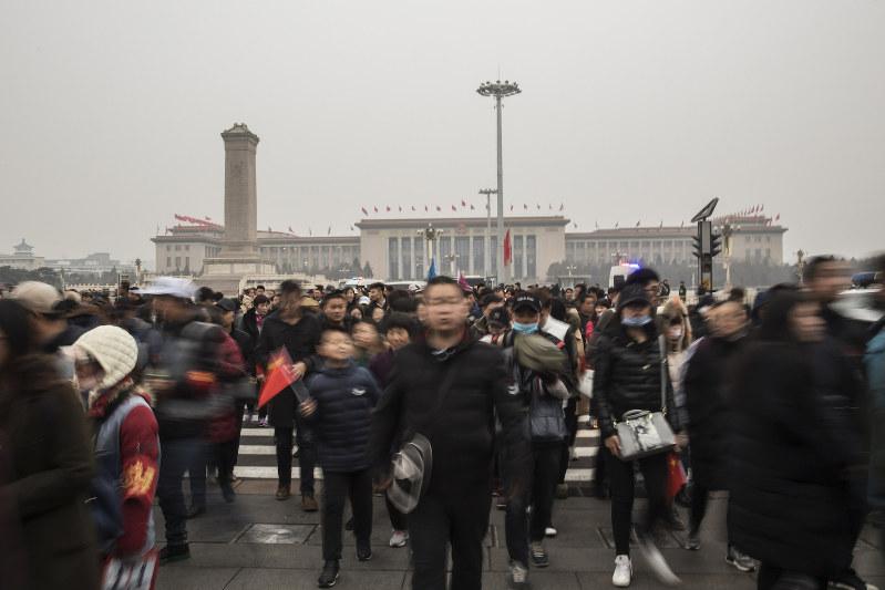中国内では経済失速への不安は根強い Bloomberg