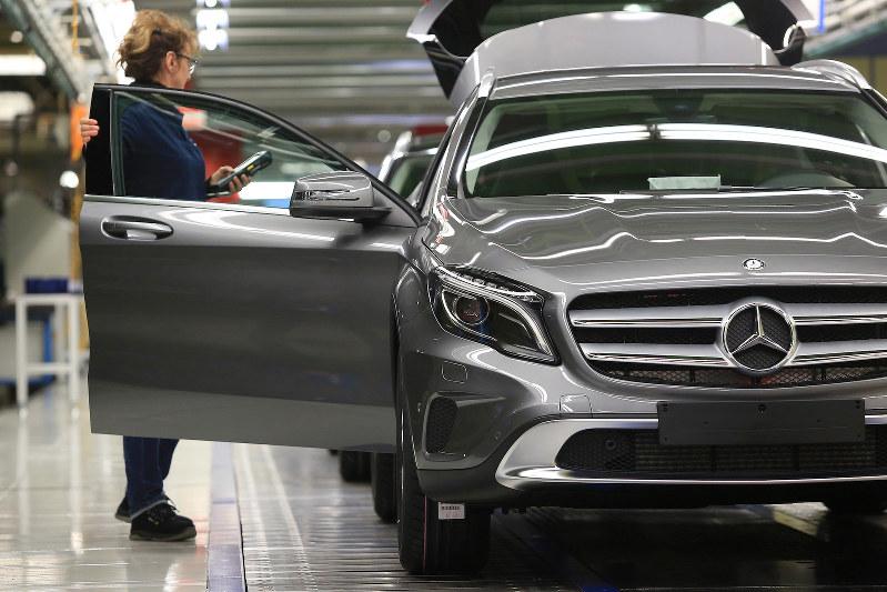 ドイツは自動車への関税を警戒(独ダイムラーの工場) Bloomberg