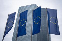 ECBの後任総裁人事も焦点に(独フランクフルトのECB本部) bloomberg
