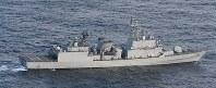 海上自衛隊のP1哨戒機に火器管制レーダーを照射した韓国軍の駆逐艦=防衛省提供