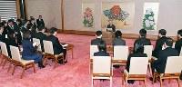 誕生日を迎えるにあたり記者会見される天皇陛下=皇居・宮殿「石橋の間」で2018年12月20日午後(代表撮影)