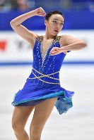 Rika Hongo performs her free program at Japan's national figure skating championships at Towa Pharmaceutical Co.'s Ractab Dome in the city of Kadoma, Osaka Prefecture, on Dec. 23, 2018. (Mainichi/Kenji Ikai)