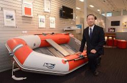 独自のゴム素材を活用したボートは、米国をはじめ海外でも知られている