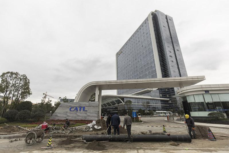 寧徳時代新能源科技(CATL)の本社(中国・福建省)。横浜市にも拠点を作り、日本市場に触手を伸ばす(Bloomberg)