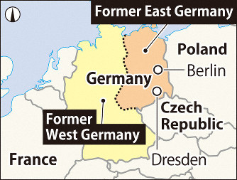 Map Of Germany During Cold War.Walls Of The World Berlin Front Line Of The Cold War Between East