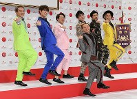 Popular idle group DA PUMP is seen at NHK broadcasting center in Tokyo's Shibuya Ward on Nov. 14, 2018, after it was selected to perform at the annual New Year's Eve music extravaganza