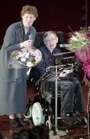スティーブン・ホーキングさん(英宇宙物理学者)=2001年、平野幸久撮影