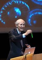 下村脩さん(ノーベル化学賞受賞、米ボストン大名誉教授)=2008年、北村隆夫撮影