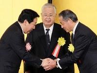 米倉弘昌さん(元経団連会長、元住友化学会長)=2012年、石井諭撮影