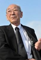 馬場有さん(前福島県浪江町長)=2013年、竹内紀臣撮影