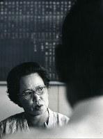 日吉フミコさん(水俣病市民会議会長)=1972年撮影