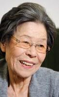 菅井きんさん(女優)=2008年、長谷川直亮撮影