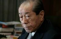 野中広務さん(元官房長官、元自民党幹事長)=2009年、岩下幸一郎撮影