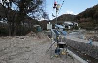 天応地区に設置された土石流監視警報装置=広島県呉市で2018年12月13日、小出洋平撮影