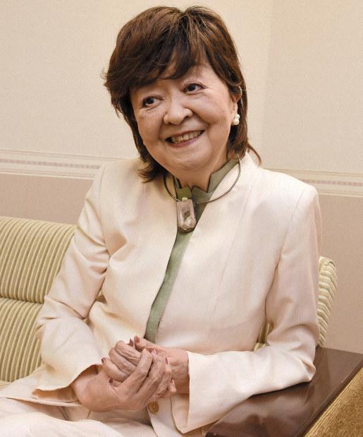 内館牧子さん=秋田市で2018年11月17日、川口峻撮影