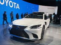 Toyota Motor Co. displays the new experimental self-driving car