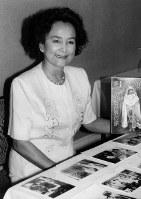 放映31年を迎えた「兼高かおる世界の旅」(TBS系)が9月30日で幕を閉じる。記者会見で「今がいい区切りの時」と心境を語る兼高かおるさん=東京都港区で、1990年7月31日撮影