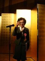 日本旅行作家協会長に就任した旅行ジャーナリストの兼高かおるさん=2007年1月24日、網谷隆司郎撮影