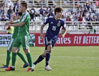 アジア杯【日本・トルクメニスタン】同点ゴールを決めた大迫=UAEのアブダビで2019年1月9日、AP