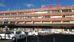 JR釧路駅前=筆者撮影