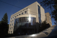 In this file photo dated Sept. 20, 2018, the Russian National Anti-doping Agency RUSADA building is seen in Moscow, Russia. (AP Photo/Alexander Zemlianichenko)