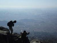 筑波山山頂からの大展望。関東平野が一望できる