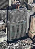火災があった建設中の高層ビル=東京都港区で2019年1月11日午後2時44分、本社ヘリから