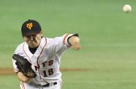【野球】杉内俊哉(巨人)/左腕から切れのある直球やスライダーなどを繰り出し、05年には18勝で最多勝、最優秀防御率のタイトルを獲得=東京ドームで2012年5月30日、尾籠章裕撮影