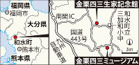 金栗四三生家記念館と金栗四三ミュージアムの位置