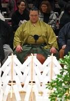 大相撲初場所の土俵祭に臨む稀勢の里=東京都墨田区の両国国技館で2019年1月12日午前9時53分、手塚耕一郎撮影