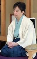 久保利明王将=静岡県掛川市の掛川城二の丸茶室で2019年1月13日午前9時5分、小林努撮影