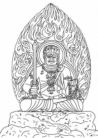 仏さま塗り絵成田山新勝寺がhpで公開へ 毎日新聞