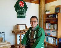 大彦の野上浩幹社長はブログなどを使った情報発信にも力を入れている=和歌山市網屋町で、中川博史撮影