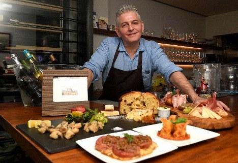 Luca Sambari, 50, the chef and owner of traditional Italian restaurant