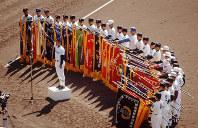 【第62回大会】選手宣誓をする浜松商の伊藤孝充主将=1990年3月26日撮影