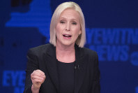 In this Oct. 25, 2018 file photo, Sen. Kirsten Gillibrand, D-N.Y., speaks during the New York Senate debate hosted by WABC-TV, in New York. (AP Photo/Mary Altaffer, Pool)