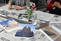 この日はスペインの建築家、アントニオ・ガウディの建築のイメージを取り入れた立体作品に取り組んだ=京都市上京区で2019年1月12日、小松雄介撮影