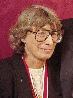 In this Nov. 18, 1992 file photo, Mary Oliver appears at the National Book Awards in New York where she received the poetry award for her book