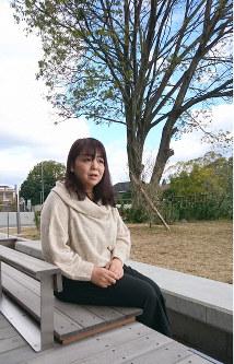うつ症状の経験を話す別所静佳さん=奈良市で2018年12月13日正午ごろ、渡辺諒撮影
