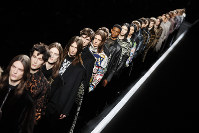 Models wear creations for the Dior men's Fall/Winter 2019/20 fashion collection presented in Paris, on Jan.18, 2019. (AP Photo/Francois Mori)