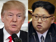 U. S. President Donald Trump, left, and NOrth Korean leader Kim Jong Un (AP)